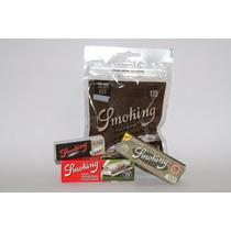 Paquete Smoking Organic, Filtros, Roladora Metalica Y Papel