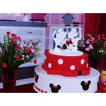 Topo De Bolo Mdf Mickey E Minnie *-*