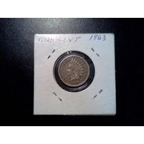 E.e.u.u. Moneda De 5 Centavos Liberty Año 1863