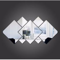 Kit 7 Espelhos Decorativos Grande Em Acrílico Quadrados Sala