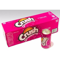 Refrigerante Crush Strawberry Morango - Caixa 12 Latas 355ml