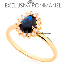 Rommanel Anel Cristal Azul 15 Zirconias Formatura 511924