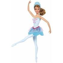 Muñeca Barbie Zapatillas Magicas Azul Ballet Original Mattel