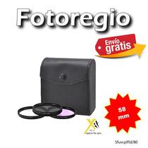 3 Filtros 58mm Uv Cpl Fld Sony A290 A300 A330 A350