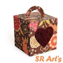 Silhouette - Box Com Alça Caixa De Presente Namorados Festa