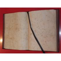 Libro De Firmas De Cuero Y Papeles Envejecidos, Libro De Oro