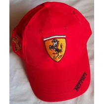 Ferrari Gorra Cavallino Rampante En Frente, Lateral Y Nuca