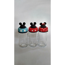 Frascos De Mickey Y Minnie Decorados Con Porcelana Fria