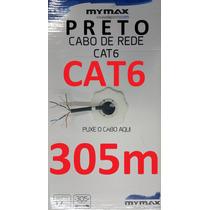 Cabo Rede Cat6 Preto 305m Utp Lan Net Caixa Cx Mt Rolo Mymax