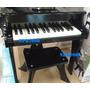 Piano De Madera Con Silla Para Niños Color Negro Cap. 50 Kg