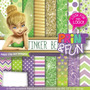 Kit Imprimible Pack Fondos Tinker Bell Clipart