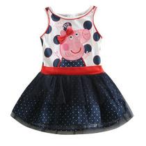 Vestido Disfraz Peppa Nena Lunares. T. 1 A 3 Años. Importado