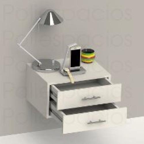 Mesa de noche flotante minimalista bs 3 50 en mercado libre for Mesillas suspendidas