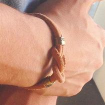 Bracelete Masculino Couro Ouro Velho Cadin Design