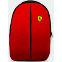 Mochila Ferrari /shell Original Vermelha Medida 40 Cm X 30cm