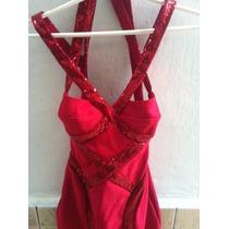 Vestido Bandage Com Paete Vermelho Tamanho 38/40 Importado