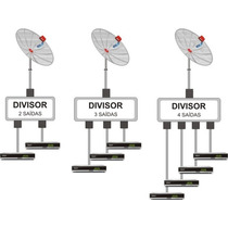 Splitter Coaxial F 1x4 Antena Tv A Cabo 1 In 4 Out Divisor
