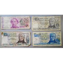 Lote De 4 Billetes De Argentina Circulados