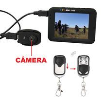Botao Camera Filmadora Digita Espia Tela Lcd 2.5 Mini Dvr