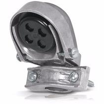 Mufa Con Abrazadera Aluminio Tubo 1 1/4 Pulgada Volech 46943
