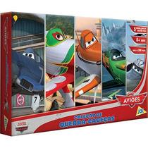 Coleção Com 5 Quebra Cabeças Aviões Disney Da Toyster