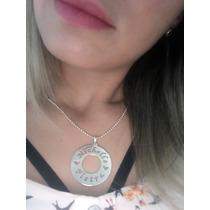 Pingente Mandala Personalizada De Prata 925