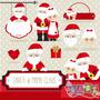 Kit Imprimible Santa Y Mama Claus 1 Imagenes Clipart