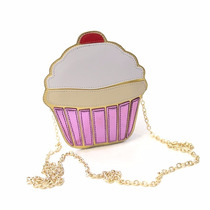 Bolsa Cupcake 3d Sorvete Feminina - Moda Desenho 3d
