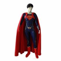 Disfraztraje Super Man De Lujo Para Hombre Con Relleno