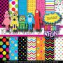 Kit Imprimible Pack Fondos Yo Gabba Gabba! Clipart