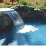 Cascadas Curva 60cm , Fuente Para Piscina En Fibra De Vidrio