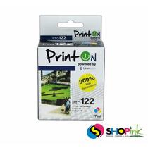 Cartucho Printon Hp 122xl Tricolor Pto122ac 17ml