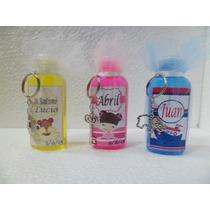Souvenirs Personalizado Jabon Liquido Llavero Spa Nena X 10