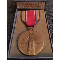 Segunda Guerra Mundial Medalla De La Victoria Una Joya!!