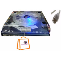 Base Para Laptop Fan Cooler Acrilica Luz Led Usb Porta Lapto