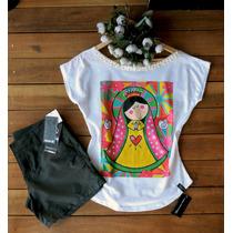 Camiseta - Feminina - Blusa - T-shirt - Nossa Senhora