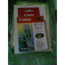 Cartucho Para Impresora Canon Bci-21 Negro