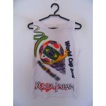 Blusa Feminina Branca Estampa Copa Do Mundo Cód. 676