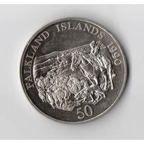Islas Malvinas 50 Pence 1990 Ovejas