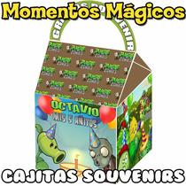 10 Cajitas Souvenir Plantas Vs Zombies Golosinera Cumpleaños