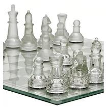 Jogo De Xadrez 32 Peças Tabuleiro Com Peças Em Vidro