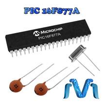 Microcontrolador Pic16f877a + 2 Capacitores 22 + Cristal