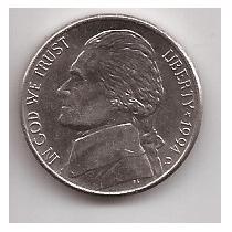Eeuu Moneda De 5 Cents Año 1994 D !!