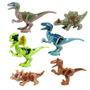 6 Dinossauros Jurassic World Park Minifigures Lego Copatível