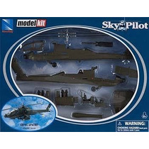 Kit Montar Helicóptero Apache Ah-64 New Ray 1:60