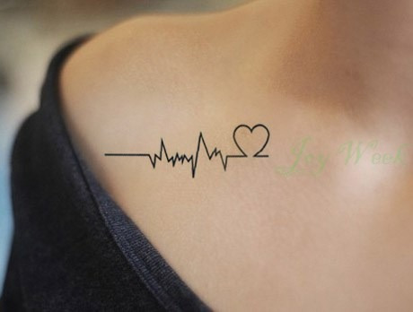 tatuajes temporales coraz n m sica amor tattoo sticker en mercado libre. Black Bedroom Furniture Sets. Home Design Ideas