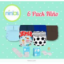 6 Pack De Pañales Ecológicos - Niño