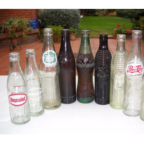 Lote Botellas Bidu Pepsi Bilz Cindor Crush Vascol Canada Dry