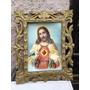 Jt Antiguo Marco Tallado De Corazon De Jesus