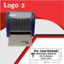 Sello Automatico 47mm X 18mm Logo 2 8902 Incluye Goma Gratis